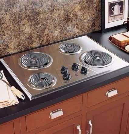 Cocina tope electrica de 30 pulgadas general electric for Cocina a gas y electrica