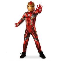 Marvel Traje Iron Man Disfraz Disney Store Tallas 4, 5/6