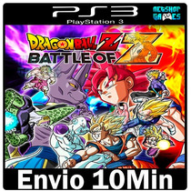 Dragon Ball Z Battle Of Z Ps3 Play3 Cod Psn ** Envio Na Hora