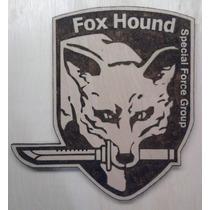 Fox Hound Quadro Madeira Metal Gear Solid Pirógrafo Snake