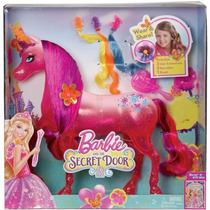 Cavalo Ponei Unicornio Rosa Barbie E O Portal Secreto