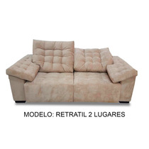 Sofa Retratil 2 Lugares 2.30m - (tecido Suede Animale)