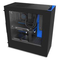 Gabinete Nzxt S340 Negro Y Azul Usb 3.0 Fan 120 X2 Gamer