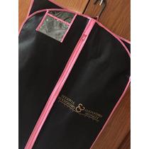Portatraje Para Vestido De Noche Negro Costura Rosa