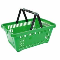 Cesta Cestinha Plastica Supermercado Mercado 5 Peças