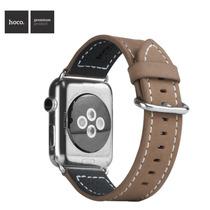 Pulseira Clássica Hoco Apple Watch Couro Genuine Browm