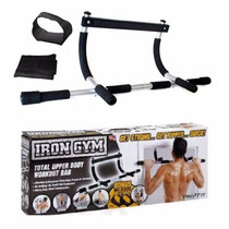 Iron Gym Door Bar Ejercita Brazo Pierna Pecho Espalda Barra