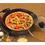 Panela Elétrica Portátil Antiaderente Grill & Pizza 220 Volt
