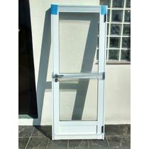 Puerta De Aluminio Bco. Vidrio Entero $ 2256 Oferta!!!!!!!!!