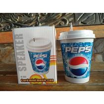 Vaso Pepsi Radio Mp3 Lector De Microsd Puerto Usb