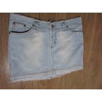 Saia Curta Jeans Nº40 Por R$ 19,90
