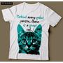 Camiseta Com Estampa De Gato Great Cat Feminina Camisa