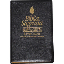 Bíblia Sagrada Harpa Cristã Letra Gigante Palavras Jesus Ver