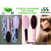 Cepillo Alisador Cerámica Plancha Fast Hair Straightener