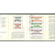 Mexico 1966 Olimpiadas 68 Folder Fdc Oficial Correo Raro Imp