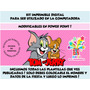 Kit Imprimible Tom Y Jerry Nena + Candy Bar