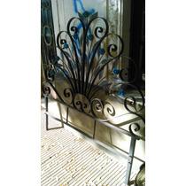 Respaldo Cama Hierro Y Flores Muy Decorativo!! #0152