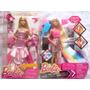 Kit 2 Bonecas Barbie Vestidos Longos Rosa E Fabulosa Mattel