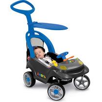 Carrinho Smart Baby Comfort Mini Veículo Azul C/ Cinto Top