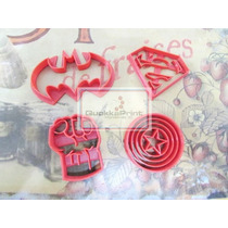 Moldes Cortantes De Galletitas Kit Superheroes - Promocion