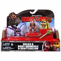 Batalha Montadores Dragões Valka Baby Gronckle E Scuttleclaw