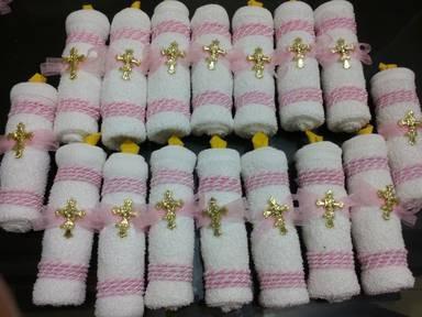 Vela de toalla para recuerdo en mercado libre for Adornos con toallas