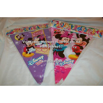 Banderines Superman Mickey Minnie Dora Diego Elmo Cotillon