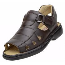 Sapato Masculino Sandália Confortável Anti Stress Preta