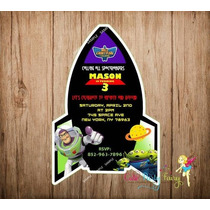 Invitaciones Buzz Light Year Toy Story Disney Full Color