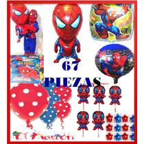 67 Globos Spiderman,hombre Araña,centro De Mesa,envìo Gratis