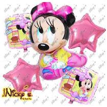 Paquete De 31 Globos Minnie Mouse Bebe Decoracion Con Globo