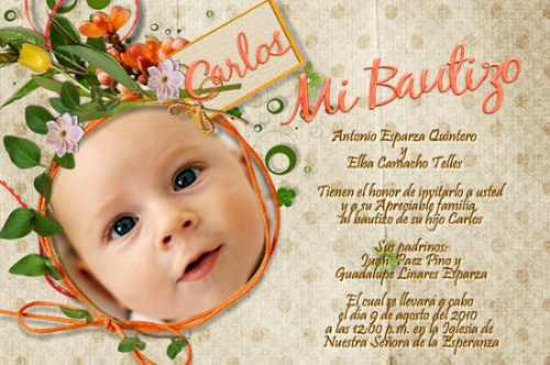 invitaciones para bautizo monísimas imprimelas tu 125 00