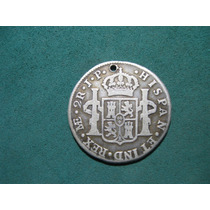 Moneda 2 Reales 1810 Lima, Peru Km# 104.2, De Plata