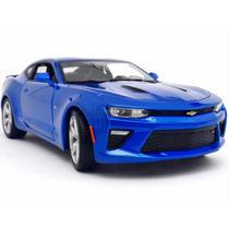 1:18 2016 Chevrolet Camaro Ss Coleccion A Escala Azul Metal