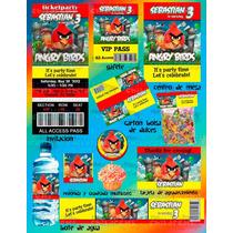 Invitaciones Angry Birds-paquete Fiesta Angry Birds #1