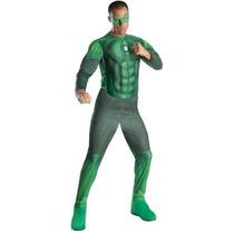 Adulto Hombres Traje De Rubie Co Linterna Verde Hal Jordan