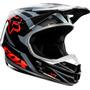 Capacete Fox V1 Race Orange Motocross Trilha - Pequeno