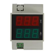 Voltimetro Amperimetro Digital Riel Din Tension Y Corriente