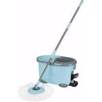 Balde Mop Centrifugador Com Esfregão E Pedal Limpeza - Mor