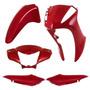 Kit Carenagem P/ Biz 125 Es Ks Ano 2011 2012 - Vermelho