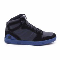 Tênis Skate Land Feet Preto/azul Cano Alto - Tipo Supra
