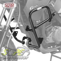 Protetor De Motor E Carenagem Scam Preto - Gs 650 G - Bmw -