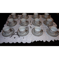 Jogo Xicaras Porcelana La Plata Cafe C/ 24 Peças P/ Presente