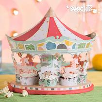 Kit Carrossel Cupcake E Roda Gigante - Arquivos Silhouette
