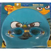 Goggle Gafas De Natacion Perry Ornitorrinco + Gorro Para Niñ