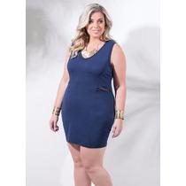 Vestido Tubinho Marinho Plus Size