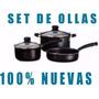 Juego Set Ollas De Cocina 5 Piezas Excelente Calidad Nuevas