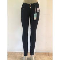 Calça Feminina Suez Jeans Com Detalhes Nos Bolsos - Promoção