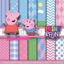 Kit Imprimible Pack Fondos Peppa Pig Clipart