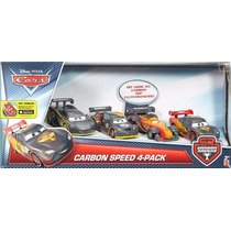 Disney Cars Carbon - Mcqueen + Max Schnell + Rip + Lewis